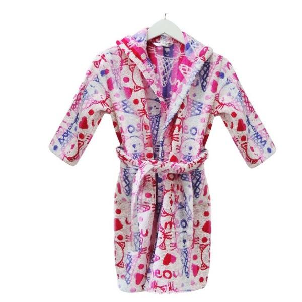 Детски халат за баня с качулка Д116 - Асорти