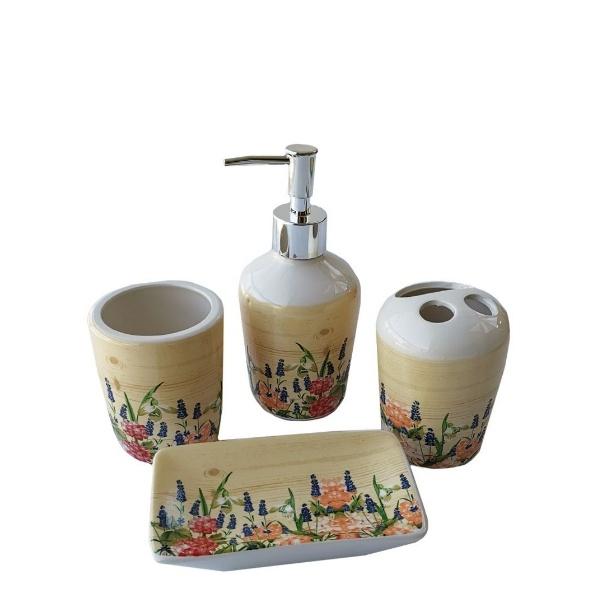 Керамичен комплект за баня - Лавандула
