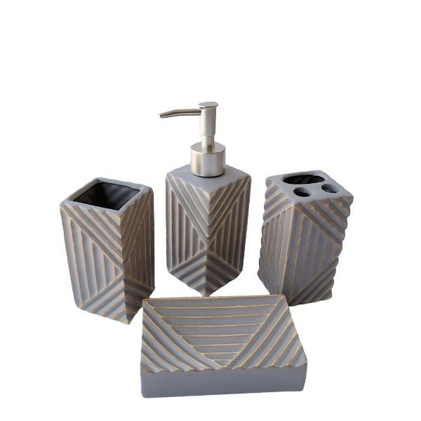 Керамичен комплект за баня - Квадрат