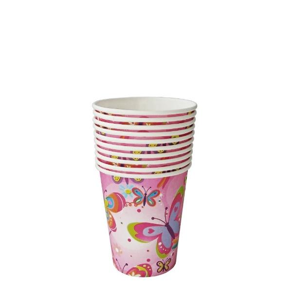Парти чашки цветни 10 броя