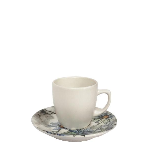 Керамичен сервиз за кафе цветя 12 ч.