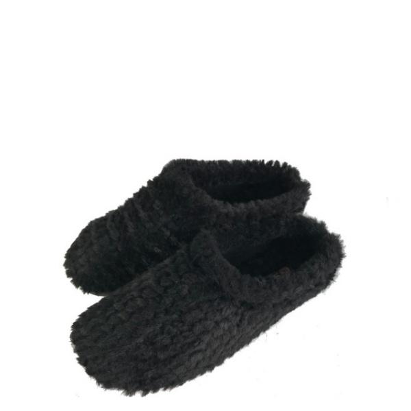 Дамски черни чехли Пухче 36-40