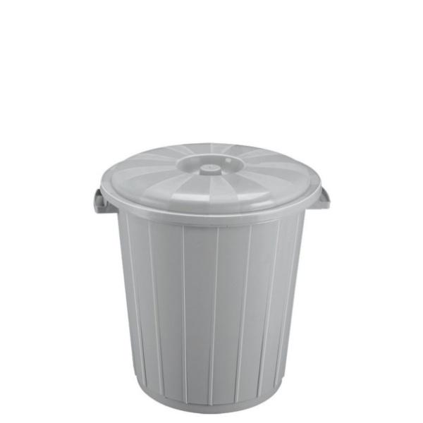 Кош с капак от вторична пластмаса 25 литра