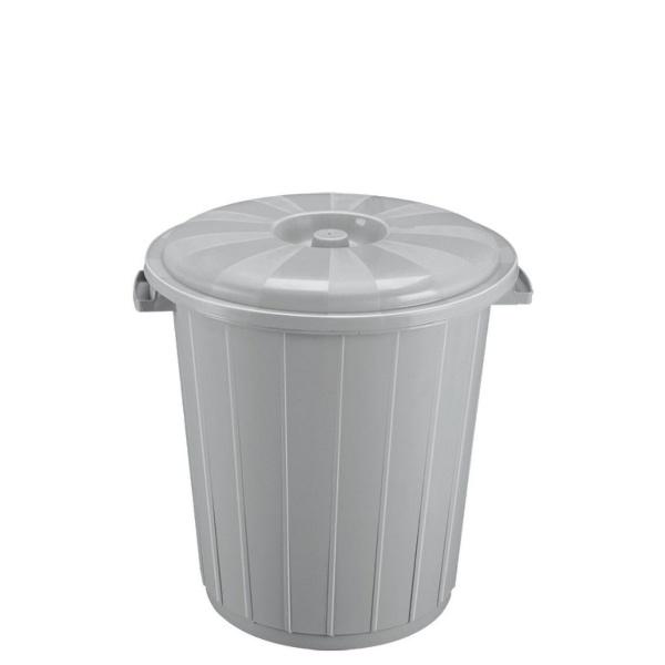 Кош с капак от вторична пластмаса 35 литра