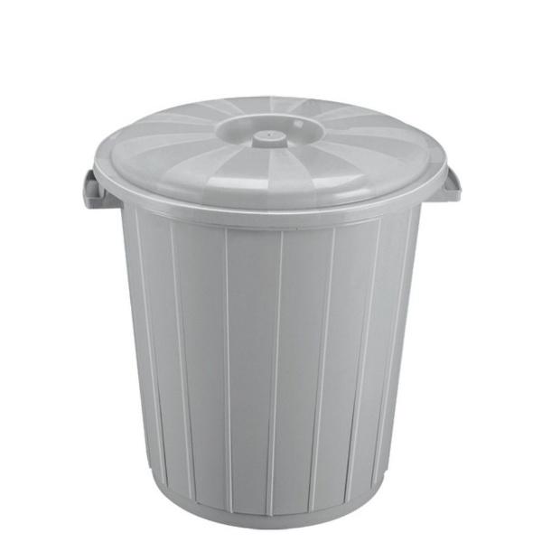 Кош с капак от вторична пластмаса 70 литра