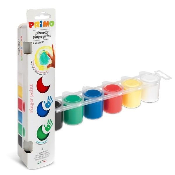 Бои за рисуване с пръсти 6 цвята Primo