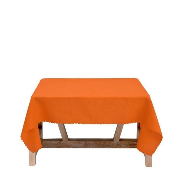 Оранжева покривка за маса 150/150 Тринити