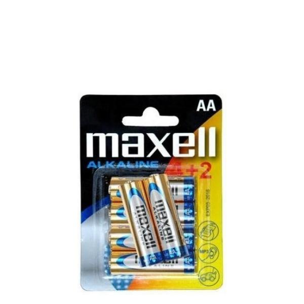 Aлкални батерии 4+2 броя 1,5 V Free Maxell LR03 AAA